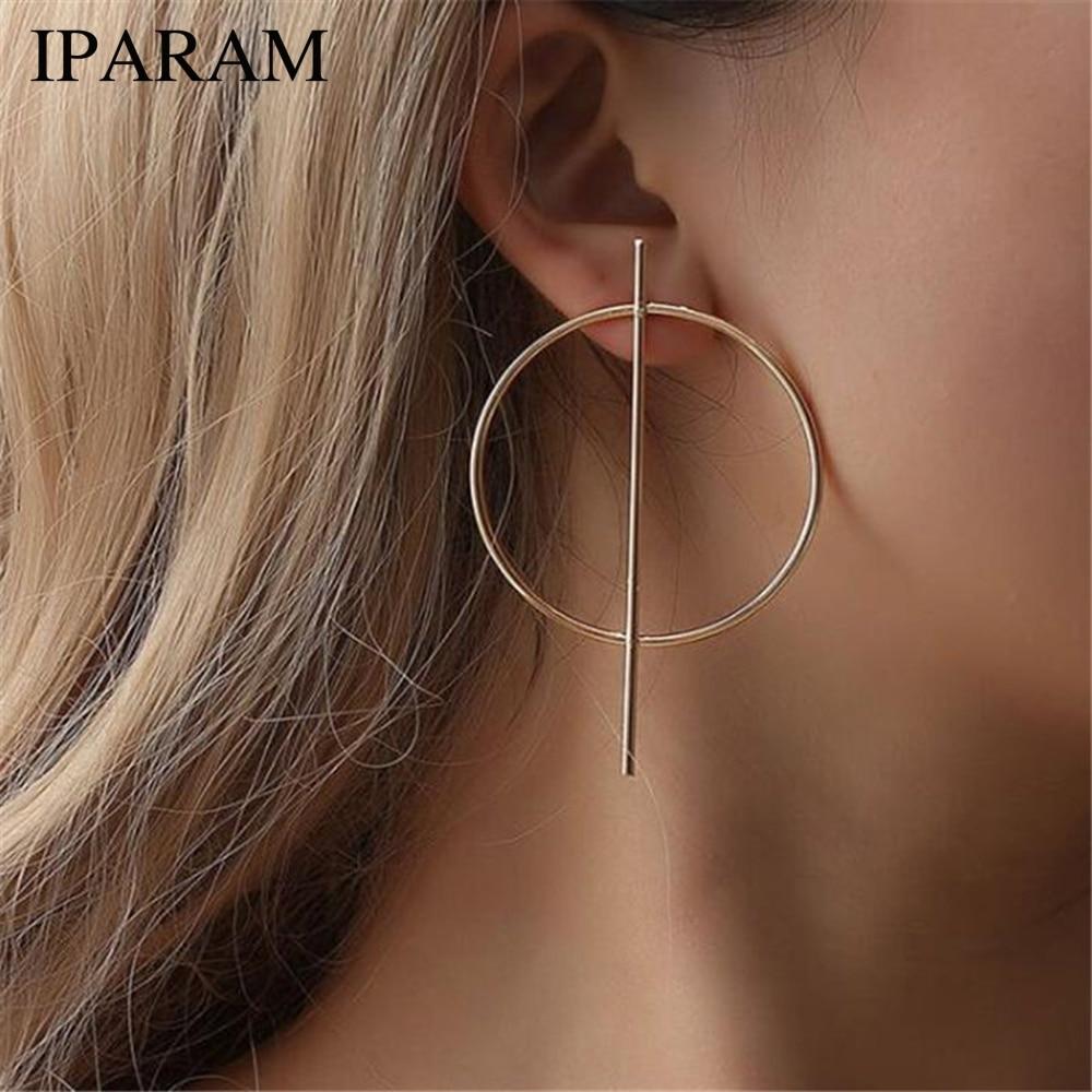 Женские серьги-подвески IPARAM, модные серьги золотистого и серебристого цветов в стиле панк