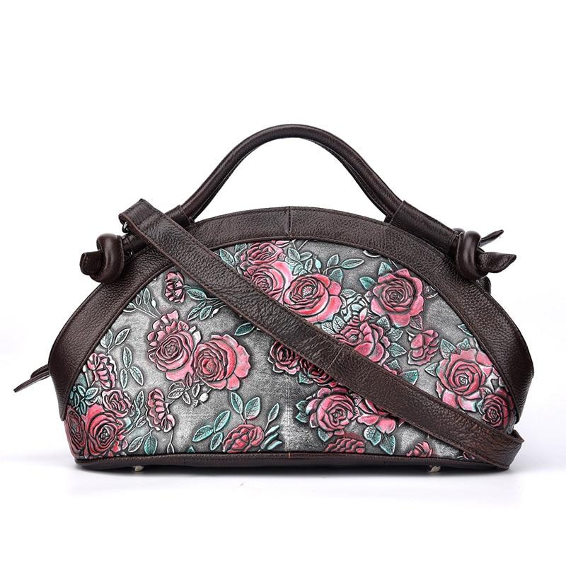 Norbinus bolsos de lujo de mujer bolsos de diseñador en relieve bolso de cuero genuino marca femenina hombro bandolera bolso de mano-in Bolsos bandolera from Maletas y bolsas    2