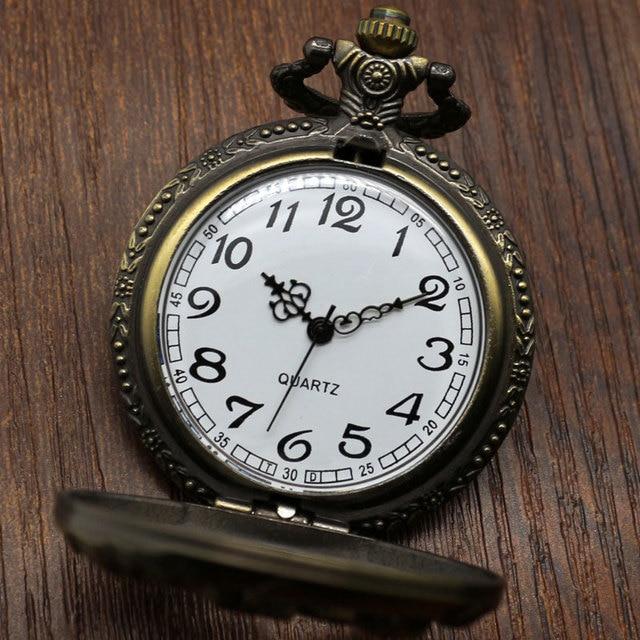 Pocket Watch Relogio De Bolso Bronze Horse Hollow Quartz Pocket Watch Necklace Pendant Womens Men GIfts  P907C