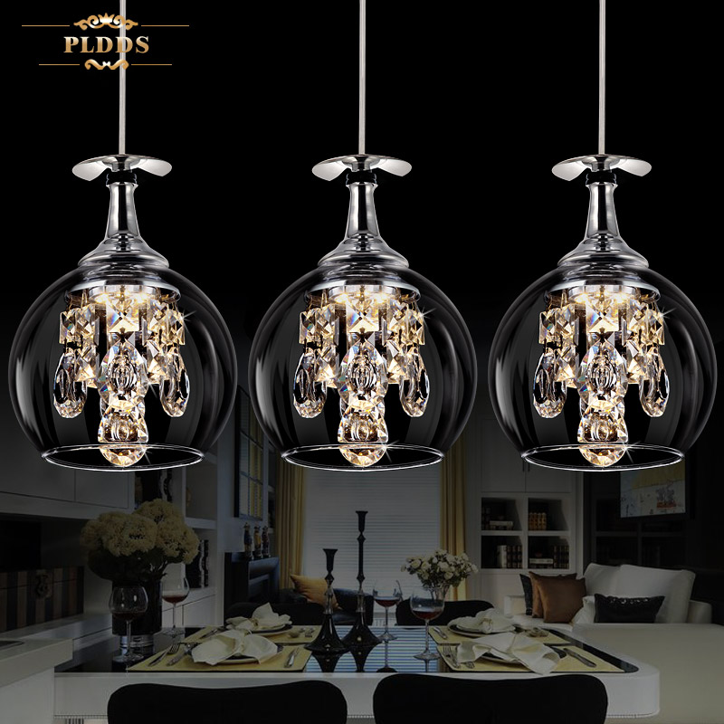 Modern fashion dining room K9 Crystal 5w LED Chandelier lamp DIY home deco living room clear glass cup Chandeliers light Fixture modern fashion luxurious rectangle k9 crystal led e14 e12 6 heads pendant light for living room dining room bar deco 2239