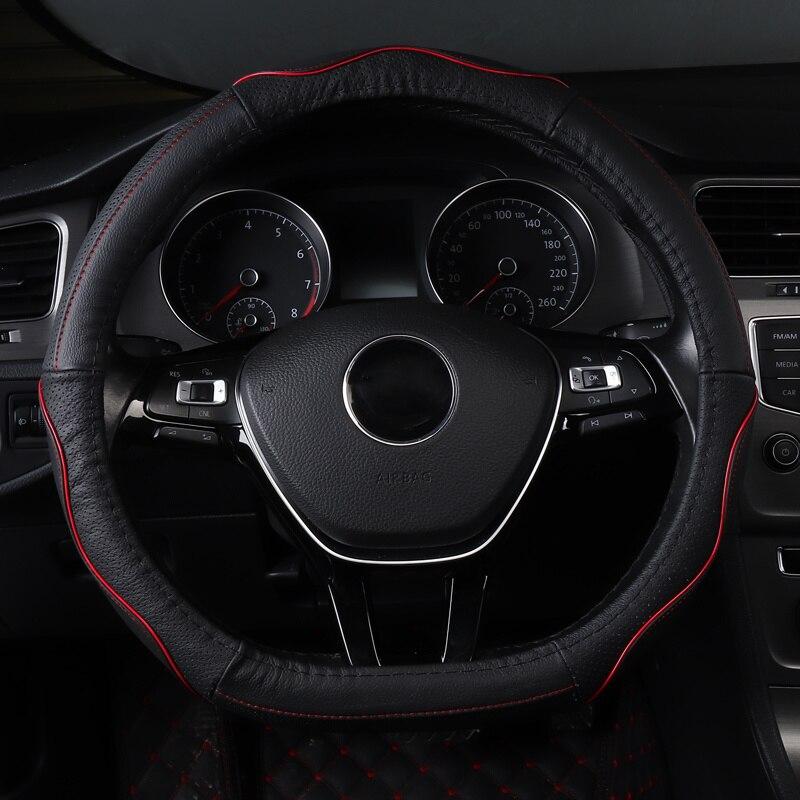 Couverture de volant de voiture non slip véritable accessoires en cuir pour Mercedes GLA cla GLK X204 GLC ml W163 W164 w166 GLE43 GLE63