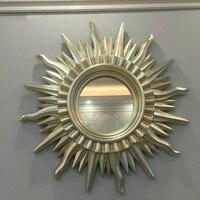Настенные зеркала декоративное зеркало домашний Декор зеркало ремесла солнечное солнце дизайн