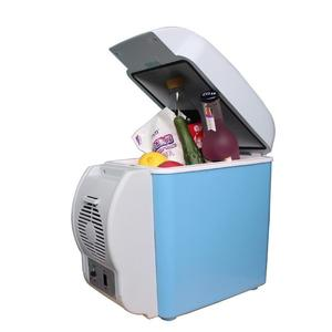 Image 4 - 12v 7.5Lミニポータブルカー冷蔵庫冷凍庫多機能クーラーウォーマー熱電電気冷蔵庫自動コンプレッサー