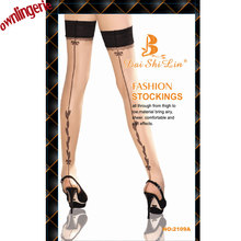 414a0d49f8d83 AILINGE Sexy Women Fashion Ladies Heal Seam Thigh High Stockings Hose Black  Top Nude