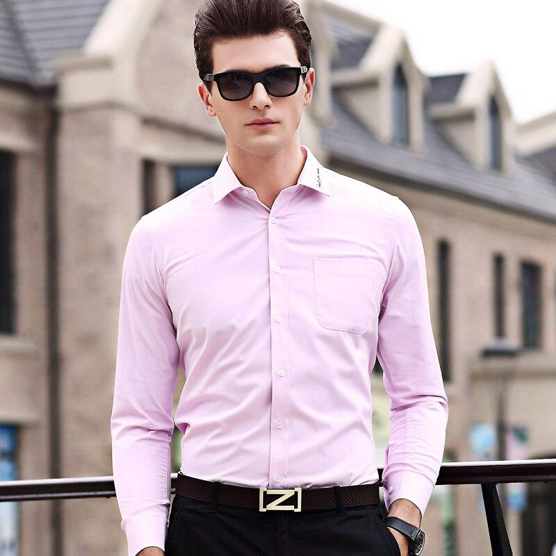 ᐃNuevo 2017 hombres de negocios camisa formal de los hombres camisa ...