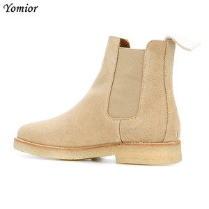 Image 2 - Handmade Luxury Brand Cow Leather Autumn Winter Men Boots Fashion Pointed Toe Wedding Chelsea Boots Vintage Motorcycle Boots