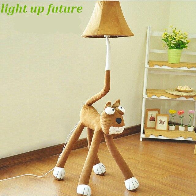 Fabric Cartoon Children's Floor lamp Lovely Cat H 1.2M Bedroom Children's Room Flexible Led e27 Floor Lamp Kid's Present 2107
