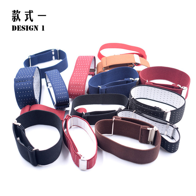 1 Pair Gentleman Formal Shirt Armband Sleeve Garter Holder Business Party Cuff father's day Gift Mouw Kousenband 2.5 cm width 2