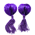 Oomph! One Pair Sexy Heart Shape Sequin Pasties Tassel Breast Bra Nipple Cover Stickers