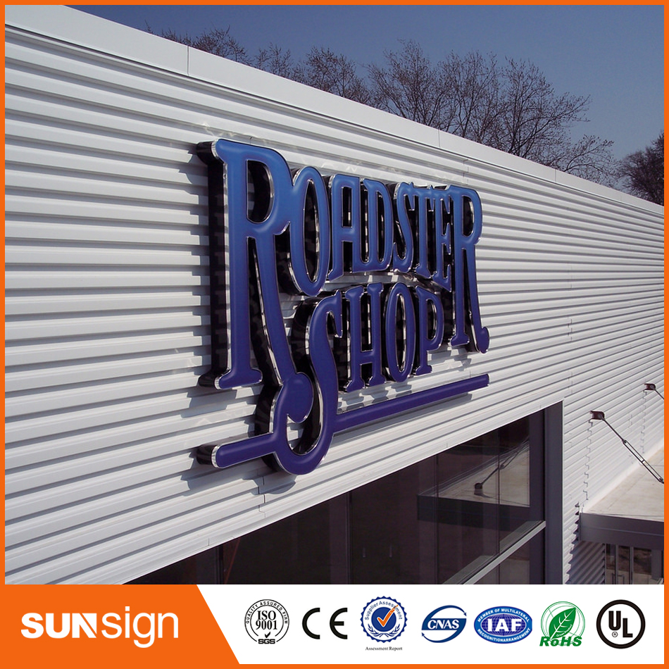 Stainless Steel Channel Letters Acrylic LED Sign