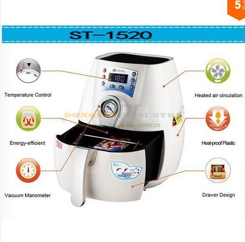 Free Shipping 3D Mug Sublimation Machine ST-1520-MG Multicolor 3D Mini Sublimation Machine Printing Machine Mug Press Machine