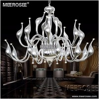 Art Decor European Candle LED Swan Chandeliers Ceiling Bedroom Living Room Modern Decoration G4 Drop Lighting Free Shipping