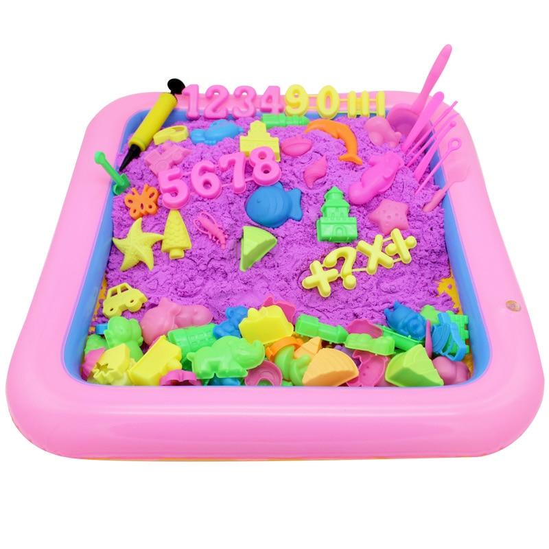 Sand Toys Colour Dynamic Sand Run Fun Space Magic Sand Beach Movement Children Toys 500 Grams