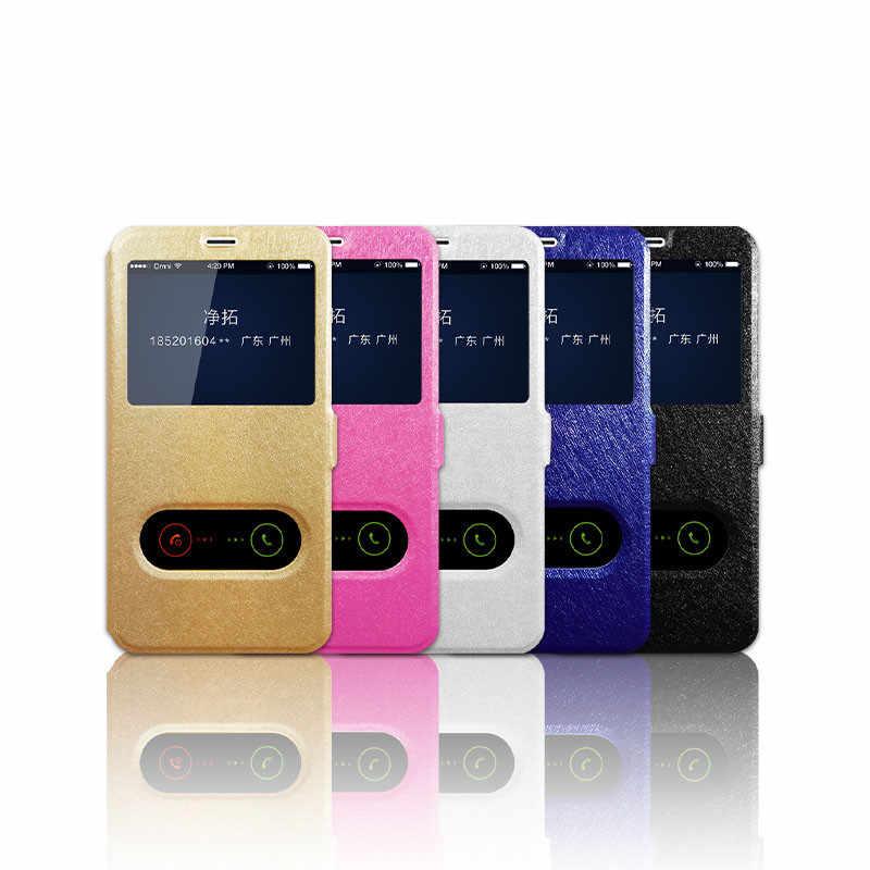Leather Filp Case for Huawei P7 P9 P8 Lite 2017 P10 Plus P20 pro Nova 3E 2 2S 3 3i Honor 8 Lite G7 G8 G9 Plus Open Window Cover