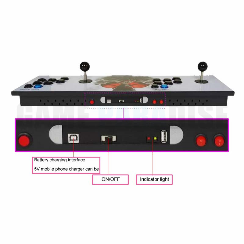 Pandora 6S 1388  in 1 zero delay wireless arcade game console with arcade button and joystick VGA HDMI output 1