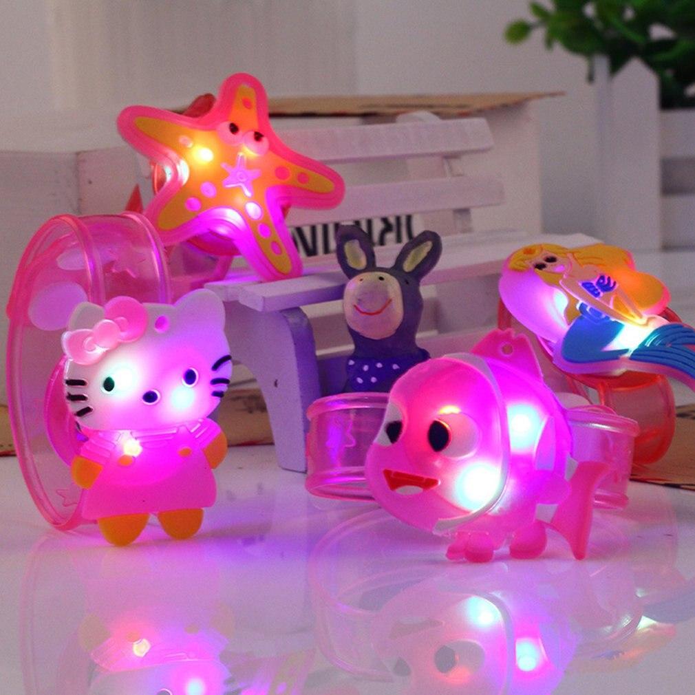 LED браслеты светящиеся игрушки Gangle мультфильм смайлик светящееся лицо резиновая повязка на запястье Милая новинка подарок на день рождения...