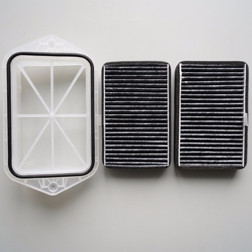 2 holes cabin filter for Vw Sagitar CC Passat Magotan Golf Tiguan Touran audi Skoda Octavia external air filter #FT100