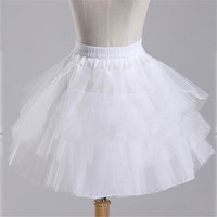 2015 Brand New Stock White Black Ballet Petticoat Wedding Accessories Short Crinoline Petticoat Bridal Lady Girls