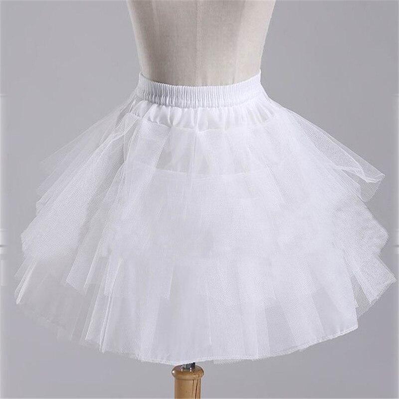 2019 Brand New Stock White Black Ballet Petticoat Wedding Accessories Short Crinoline Petticoat Bridal Lady Girls Underskirt