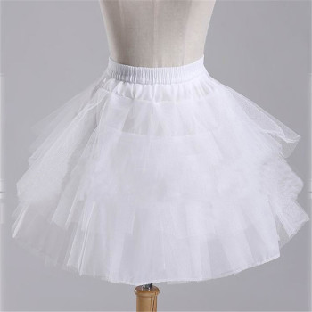 2020 Brand New Stock White Black Ballet petticoat Wedding Accessories Short Crinoline Petticoat Bridal Lady Girls Underskirt