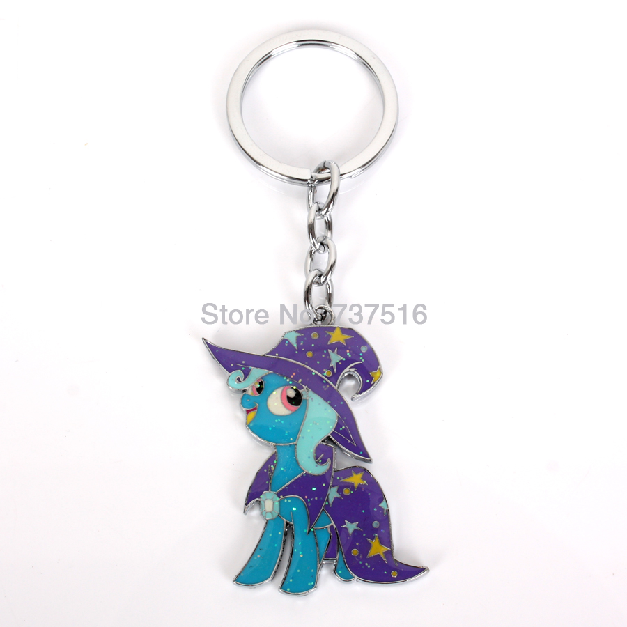 New Fashion Cute Friendship Purple Is Magic Trixie Horse Metal Animation Product