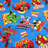105cm Width Sky Blue Marvel Super Hero The Avengers Cotton Fabric For Baby Boy Clothes Sewing