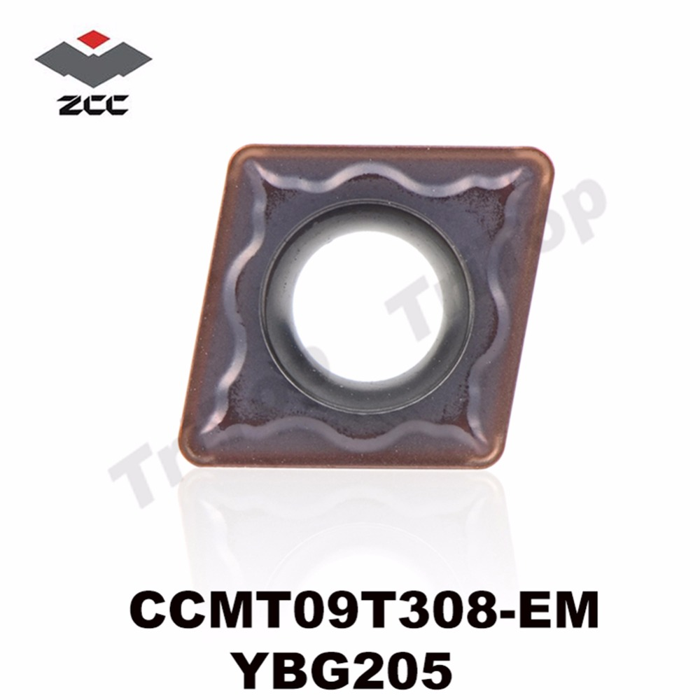 CCMT09T308-EM YBG205 ZCC TOOL CCMT 09T308 EM (10pcs/lot) ZCC . CT Tungsten Carbide Cutting Tools Turning Insert CCMT09T308
