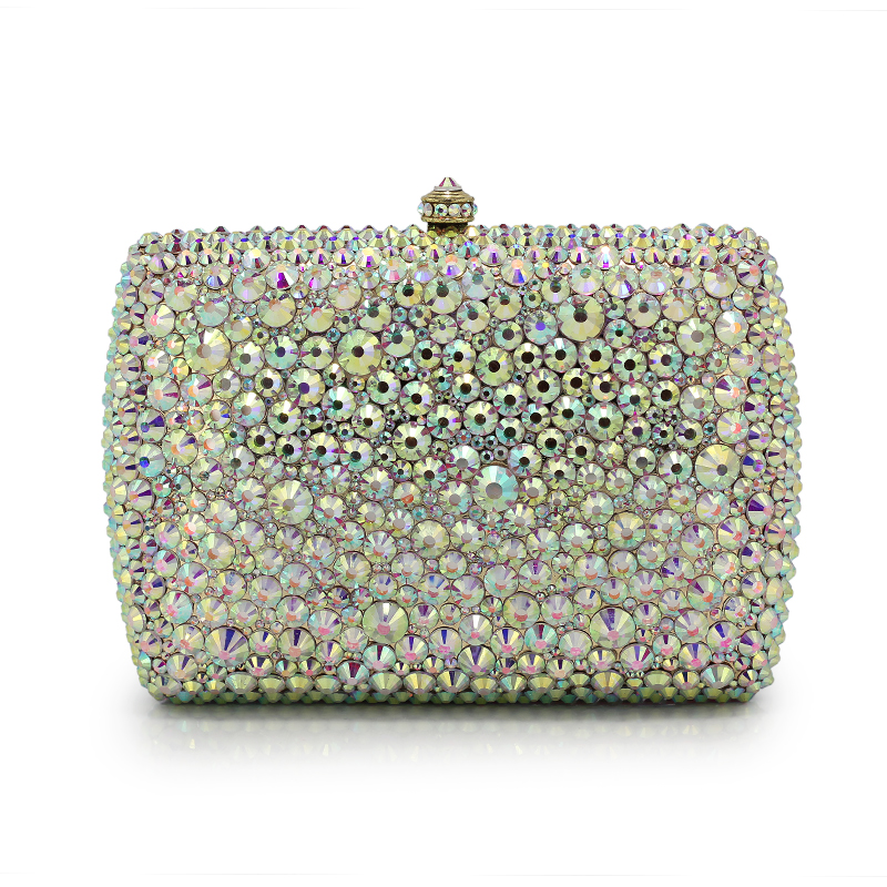 Luxury Crystal Evening Bags Full Diamond Evening Clutch Bag Rhinestone Purses And Handbags Women Party Clutch(B1004-BZ) fawziya fringe bag luxury rhinestone grape purses and handbags for womens clutch purse