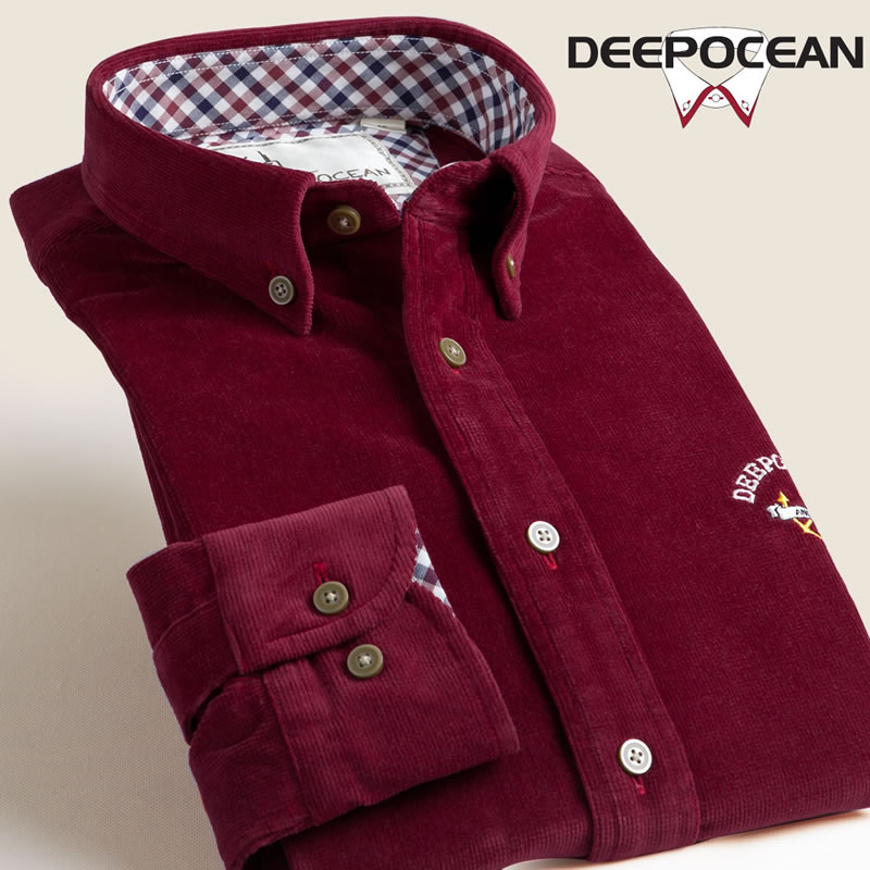 Spring Autumn Men Shirts corduroy shirt font b men s b font long sleeve shirt Brand