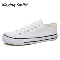 2018 Spring Summer Canvas Shoes Men Sneakers Low Top Black Shoes Mens Casual Shoes Male Brand