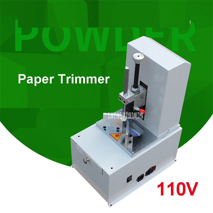 New Electric Round Corner Machine Technique 110V Automatic Fillet Paper Cutter Machine R3-9 Knife PaperTrimmer Cut thickness80mm