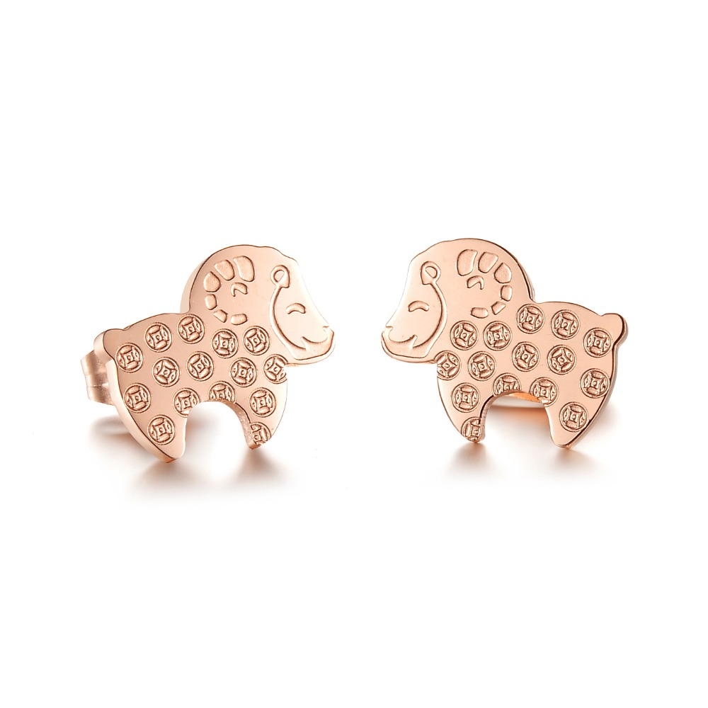 Stainless Steel Sheep Piercing Korea Earring Stud Set Display Stand Jewelry  Accessories Gift Ks746(china