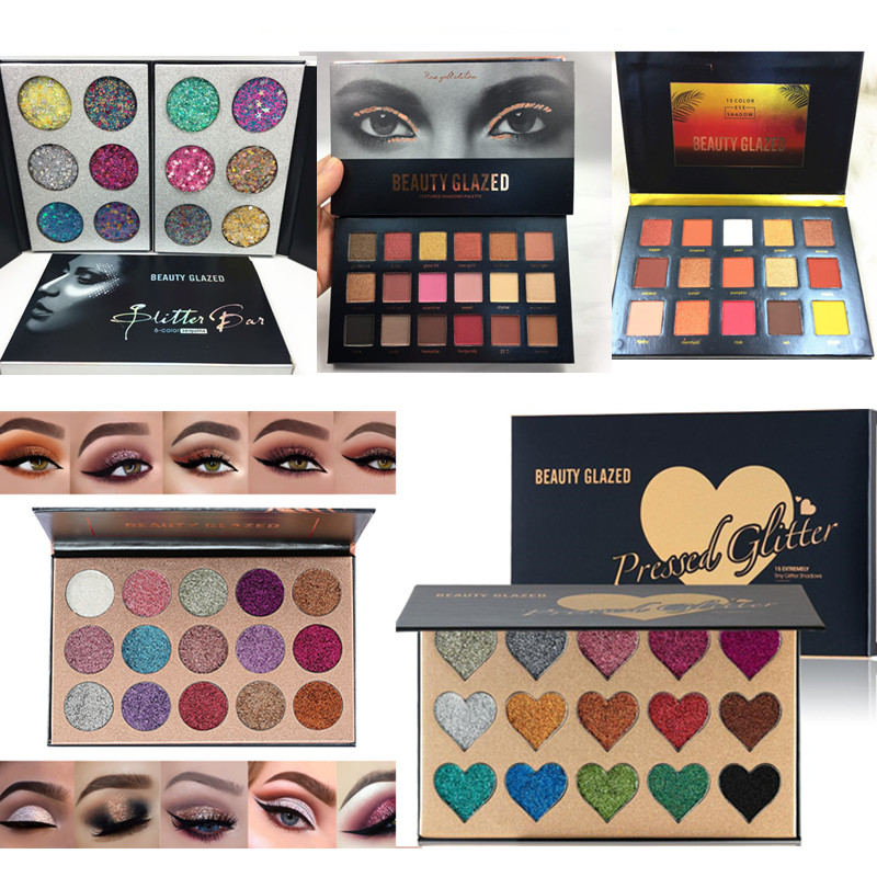 Beauty Glazed Makeup Eyeshadow Palette Glitter Diamond Pigment Glitter Shimmer Make Up Eye Shadow Sombra Paleta De Sombra beauty glazed makeup eyeshadow palette glitter diamond pigment glitter shimmer make up eye shadow sombra paleta de sombra
