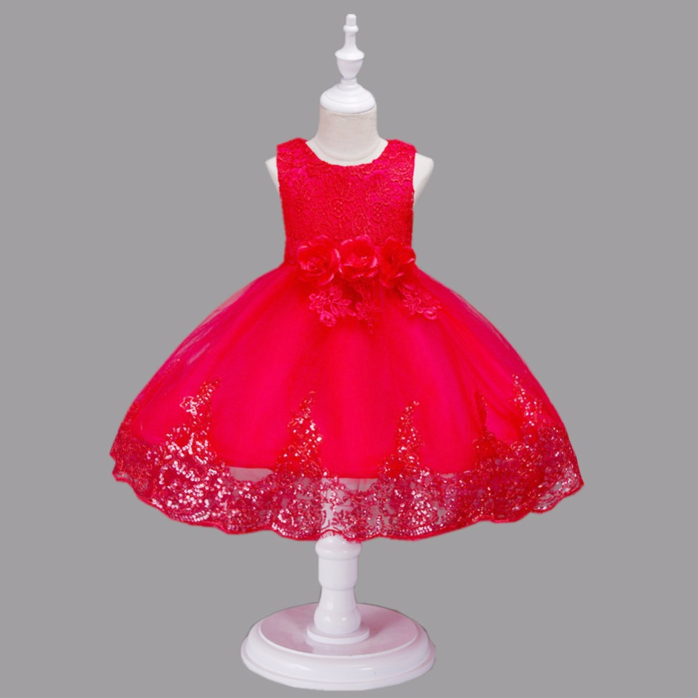 Floral Girls Dresses Size 6 8 10 to 12 Year Girls White Lace Dress A-line Dresses Girls Sequins Party Princess Dress 2 4 5 1V07 все цены