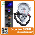 New Universal Motorcycle Dual Odometer Speedometer Gauge LED Backlight Signal Light Free Shipping
