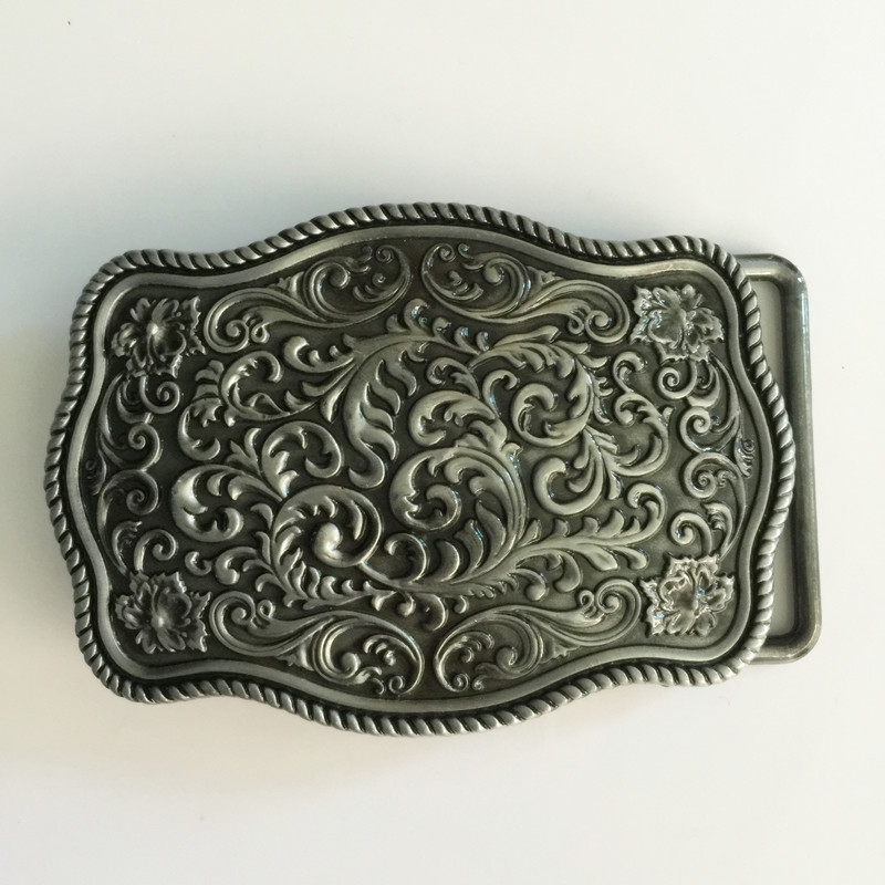 Retail Fashion belt buckles with Silver pattern metal cowboy Belt head Fit 4cm Wide Belt Classic Mens Womens Jeans accessories