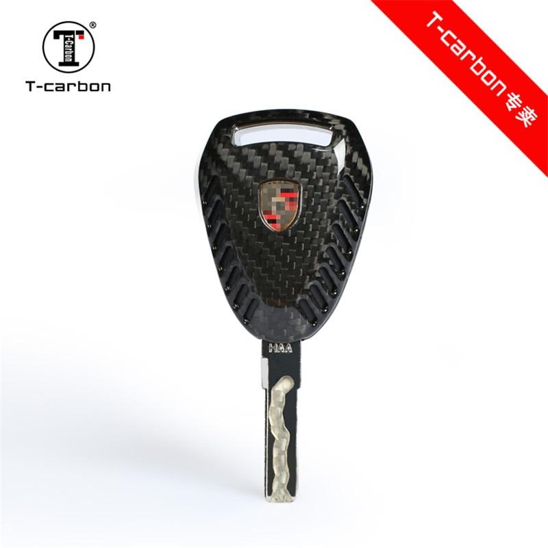 df61a1bf5441e39 100% Carbon Fiber Glossy Car Key Fob Shell Case For Porsche Boxter 911  Cayman 3 Button Car Key For Porsche 911