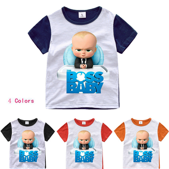 38e2e84117b0 Z Y 2 8Years Bobo choses 2018 The Boss Baby Shirt Girl Ajax Kids T ...