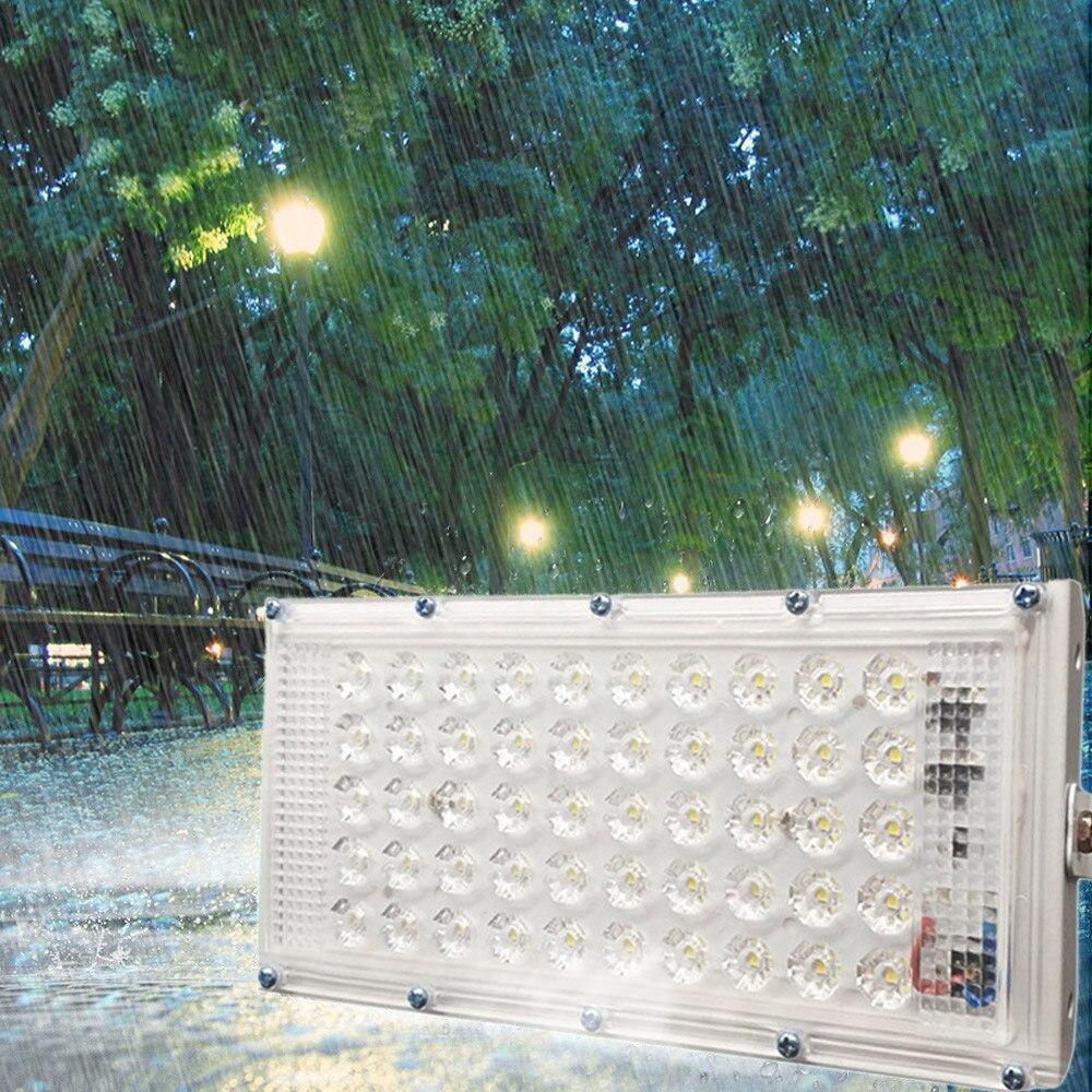Aluminum 50 LED Flood Light Waterproof Outdoor Garden Landscape Lamp 220V 50W Wall Reflector