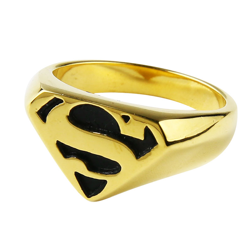 Valily Jewelry Man's Batman Ring Silver Motor Biker Superman Rings - Mode-sieraden - Foto 3