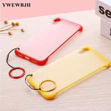 YWEWBJH Transparent Matte Case For iPhone X Xr Max  6 6S 7 8 Plus Back Cover Cases