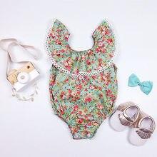 Newborn Infant Baby Girl Bodysuit Floral Summer Romper Jumpsuit Outfits Sunsuit