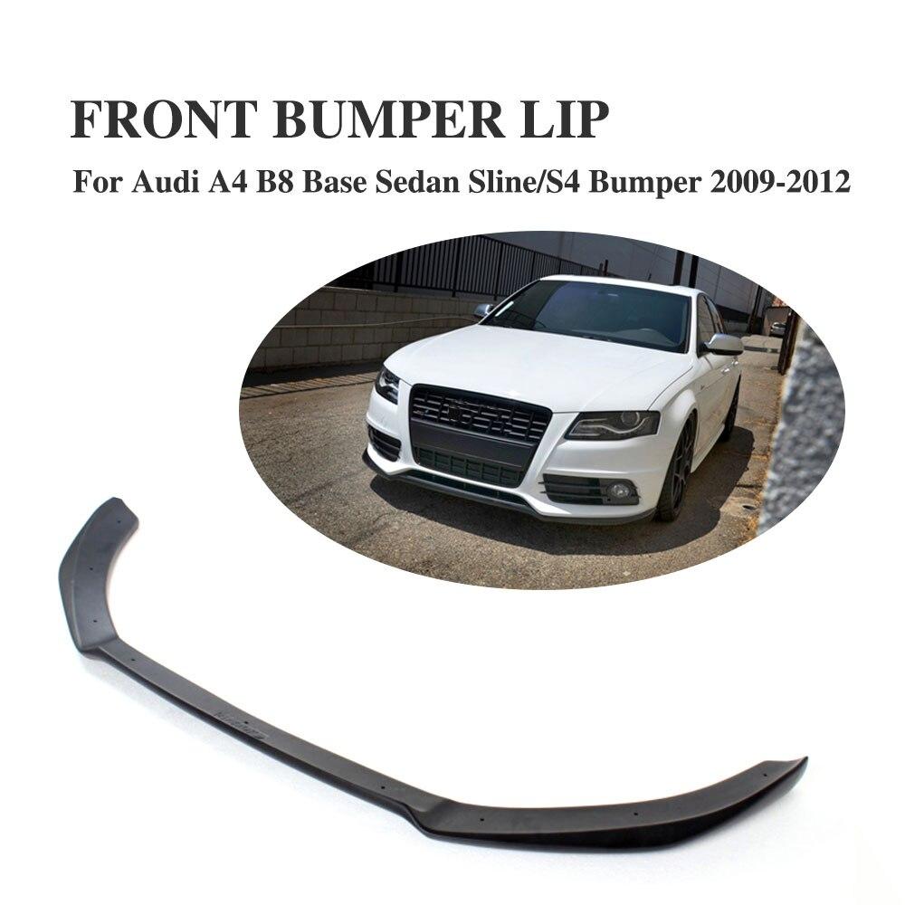 Front Bumper Lip Spoiler Apron Fit For Audi A4 B8 S4 Sline Bumper 2009-2012 Non-Standard Bumper FRP Black Painted цены