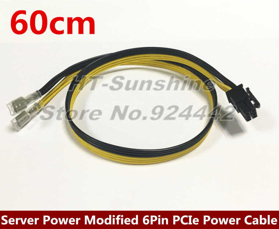 50PCS/LOT High Quality Server Power Modified 6Pin PCIe Video Card Power Cable for Dell 2950 1470W 50CM