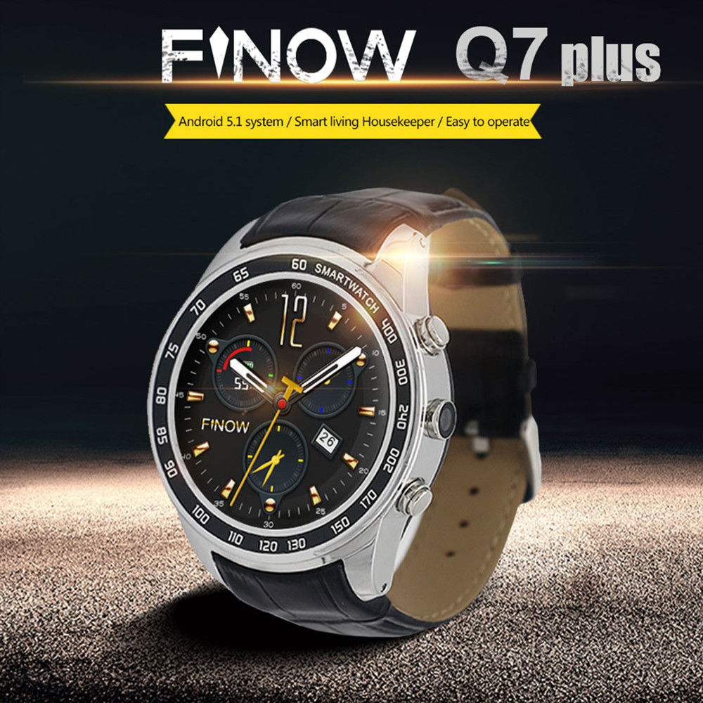 FINOW Q7 Plus 3G Smartwatch Phone 1.3 inch Android 5.1 MTK6580 Smart Watch 1.2GHz Quad Core 8GB ROM 2.0MP Camera Pedometer GPS smart watch y3 1 39 inch android 5 1 phone mtk6580 1 3ghz quad core 4gb rom pedometer bluetooth smartwatch wifi 3g smartwatch