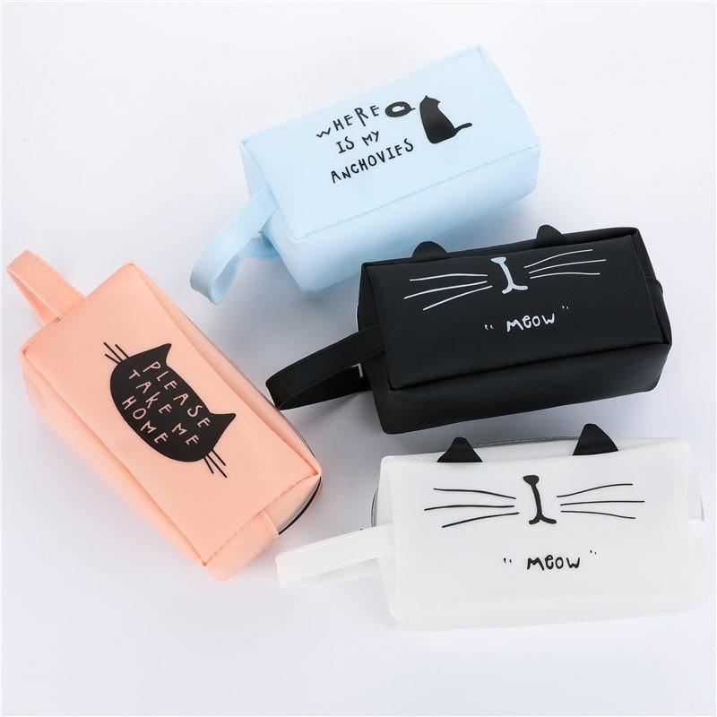 Creative Kawaii Cat School Pencil Cases Bags Cute Gel Pen Large Capacity Box Pouch Office School Stationary Supplies 04892