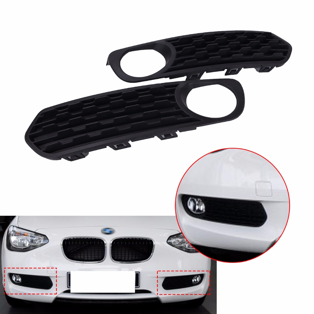 Left + Right Front Bumper Fog Lamp Grille Grill Cover For BMW F20 F21 116i 118i 120i 2011 2012 2013 # CASELeft + Right Front Bumper Fog Lamp Grille Grill Cover For BMW F20 F21 116i 118i 120i 2011 2012 2013 # CASE