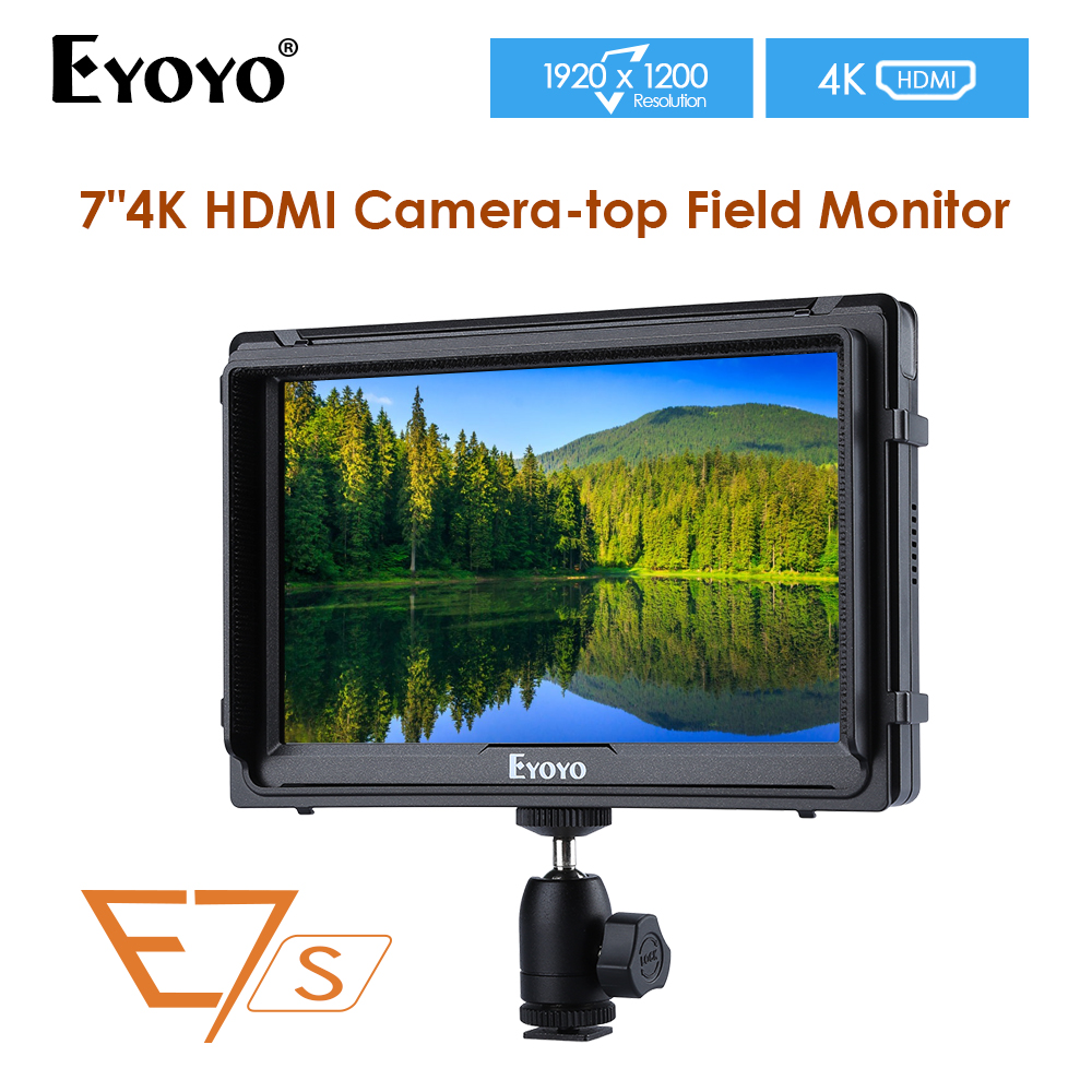 E7S 7 Inch IPS 1920x1200 On-camera Field DSLR Video Monitor for BMPCC Canon Sony camera video monitor 4KE7S 7 Inch IPS 1920x1200 On-camera Field DSLR Video Monitor for BMPCC Canon Sony camera video monitor 4K
