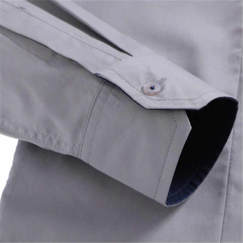 VISADA JAUNA 2018 新メンズシャツビジネス長袖ターンダウン襟綿の男性のシャツスリムフィット人気のデザイン n837