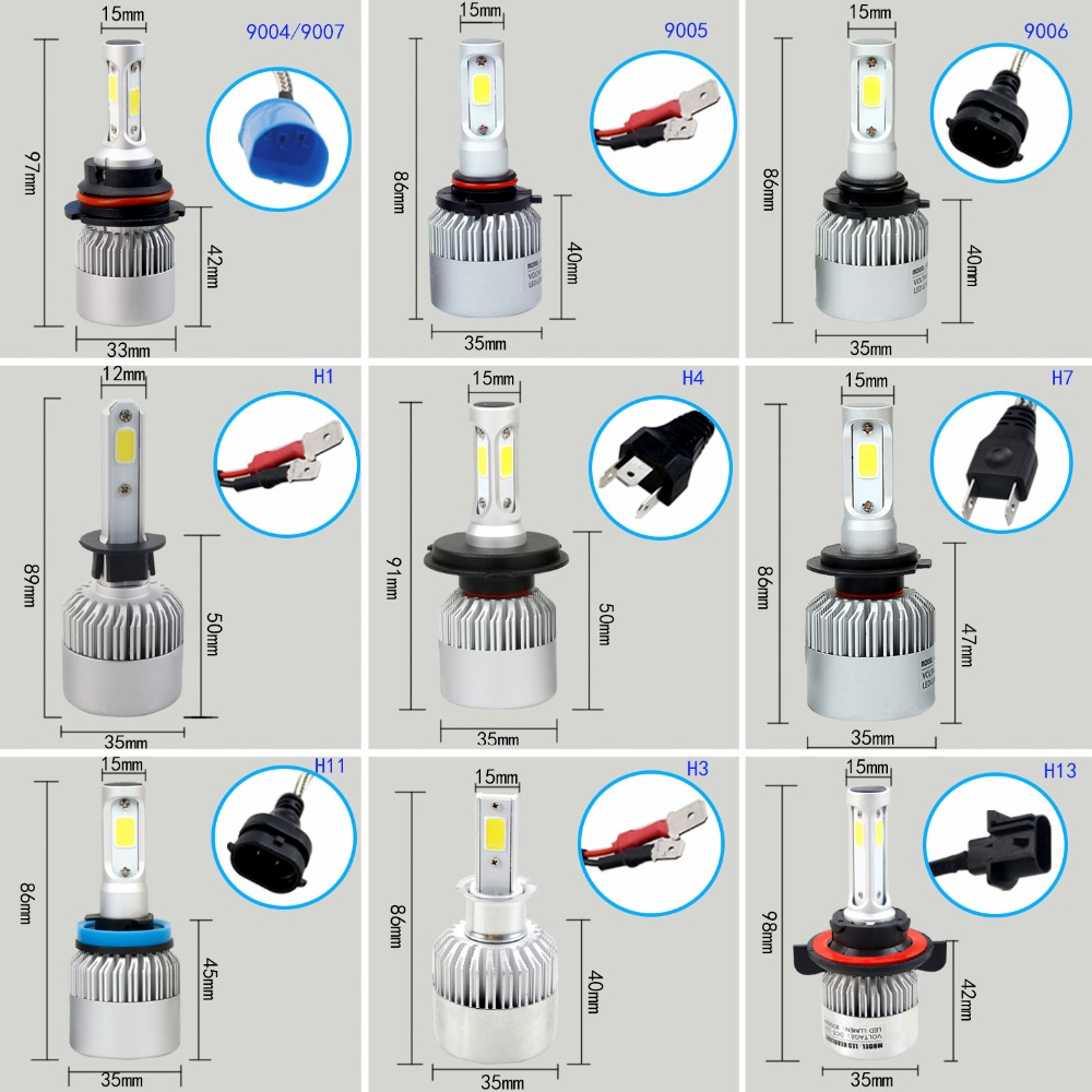Buy Leadtops H11 Led H7 H1 H4 9003 Car Headlight Wiring Diagram Bulb H3 9004 9005 Beam Auto External Lights Styling 72w 6500k White 12v Eb From